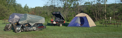 Camping at Dolbeau-Mistassini - www.MotorCycles123.com