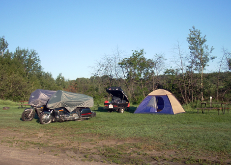 Motorcycle camping at Dolbeau-Mistassini - Canada - www.MotorCyles123.com