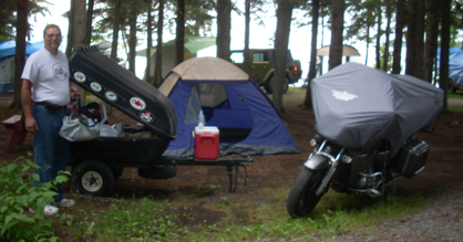 Campsite in Canada - Ernie Dube - www.MotorCycles123.com
